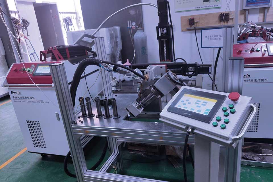 激光熔覆焊机工装