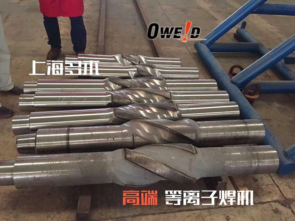 矿山扶正器、稳定器耐磨带堆焊案例