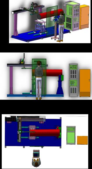 双锥注塑机料筒内孔熔覆专机(图2)